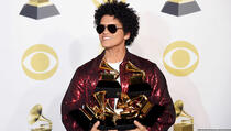 Bruno Mars pokupio sve nagrade Grammy