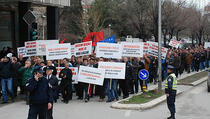 Protest protiv privatizacije Pošte i telekoma