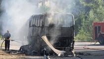 Kod Kačanika se zapalio autobus iz Novog Pazara