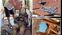 Padobranac pao i proletio kroz krov kuće u Kaliforniji