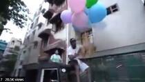 Uhapšen nakon što je zavezao psa za helijumske balone i pustio ga da leti