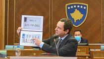 Kurti: Ponuda Kosova je da obje strane uklone probne tablice