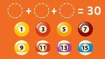 Možete li s kombinacijom od tri kugle doći do broja 30?