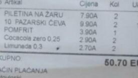 Turista se šokirao! 10 ćevapa, 2 sokića, porciju piletine i pomfrit platio 50 eura