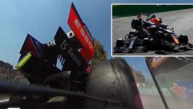 Težak sudar Hamiltona i Verstappena snimila kamera iz bolida
