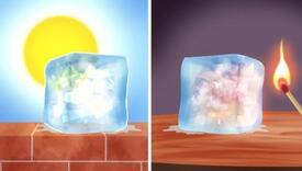 Šta mislite koja kocka leda će se prije istopiti?
