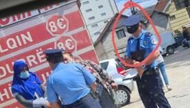 Policajac bez maske kažnjava dvije žene u Uroševcu