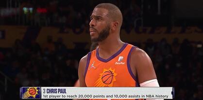 Chris Paul prvi NBA igrač sa 20.000 poena i 10.000 asistencija