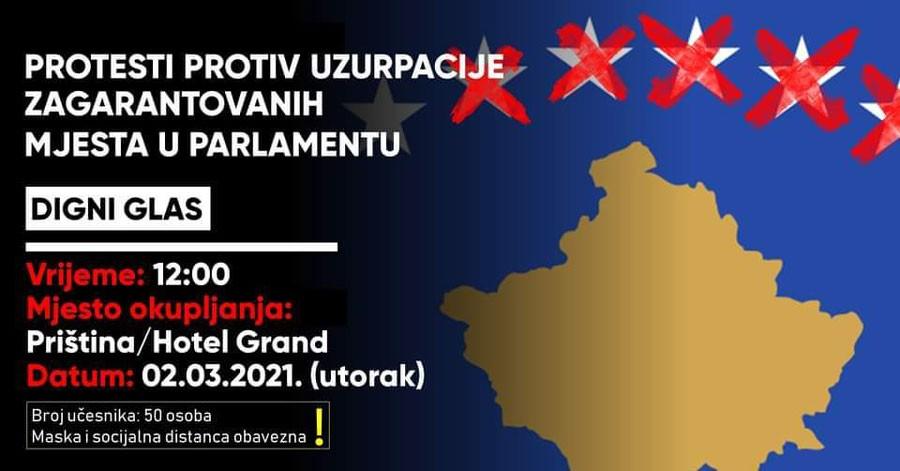 Utorak, ispred Skupštine Kosova